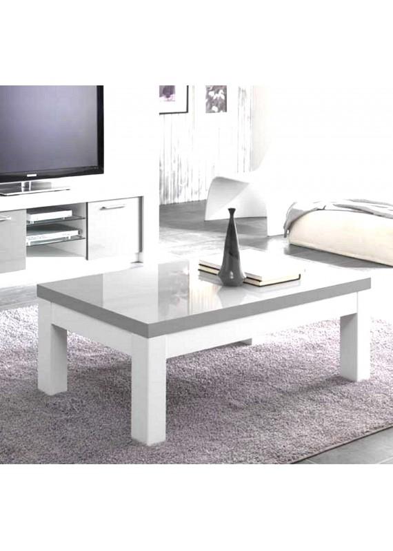 Table basse gris blanc bois