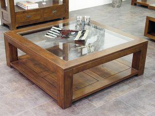 Table basse bois brut massif
