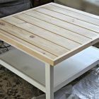 Table basse bois blanc ikea