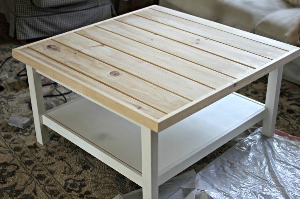 Table basse bois blanc ikea