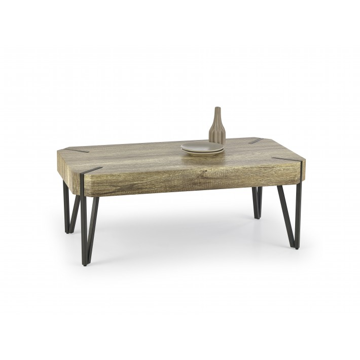 Table basse industrielle bois metal