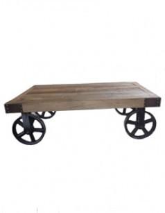Table basse ovale en bois meilleur prix