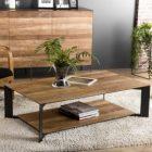 Table basse carrée originale