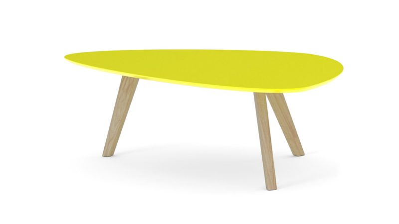 Table basse ikea jaune