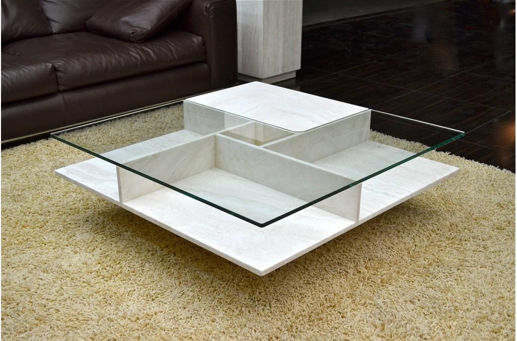 Table basse verre grande dimension