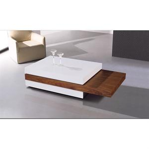 Table basse bois laqué blanc