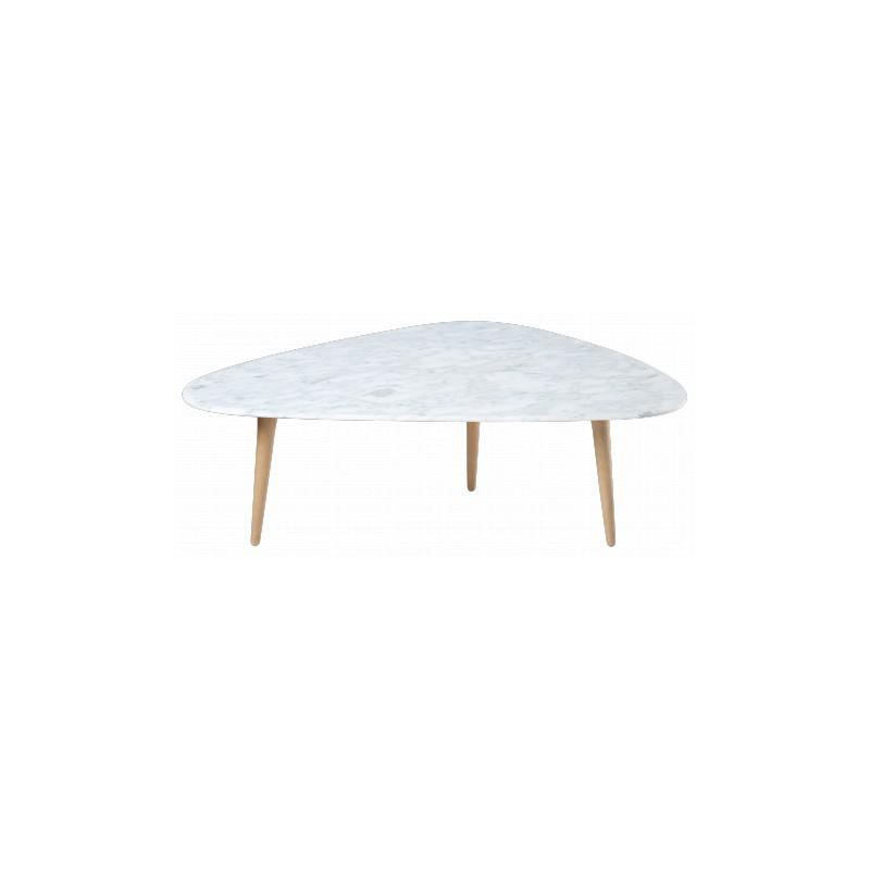 Table basse tripode marbre