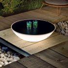 Table basse lumineuse bois