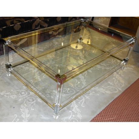 Table basse en verre ou plexi