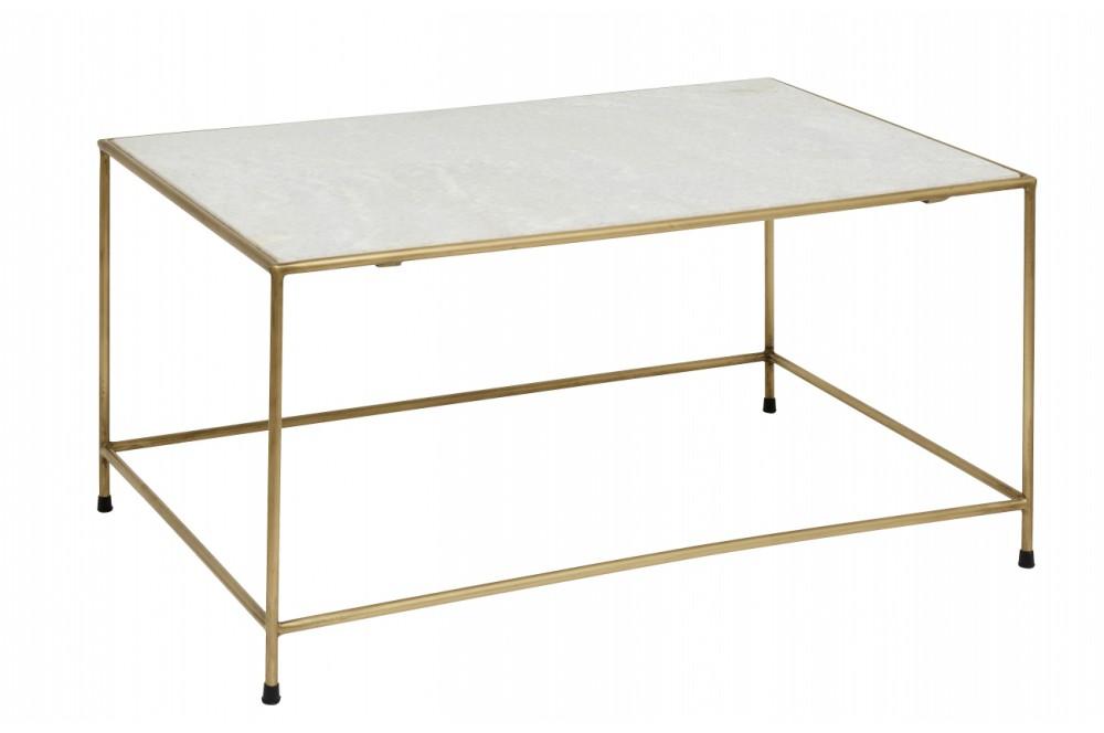 Table basse marbre et laiton