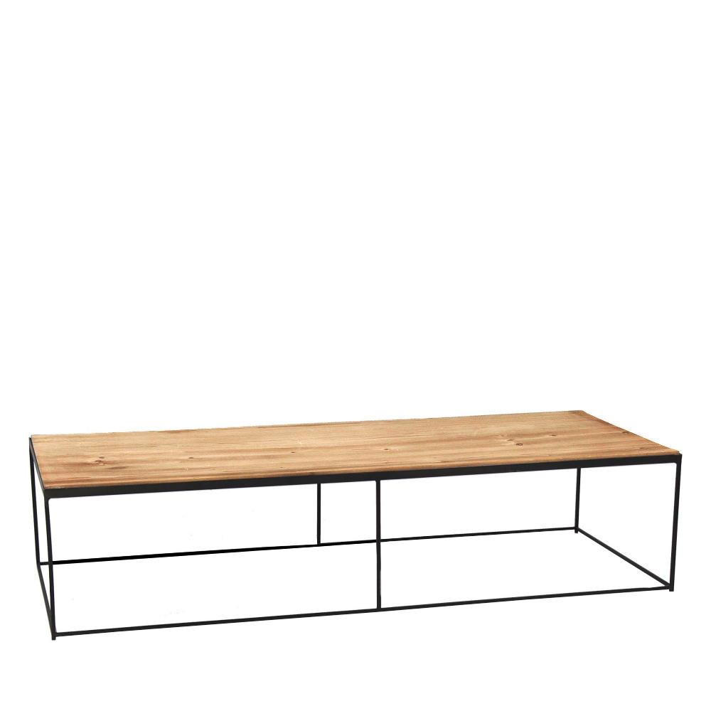 Drawer table basse bois et métal xl indi