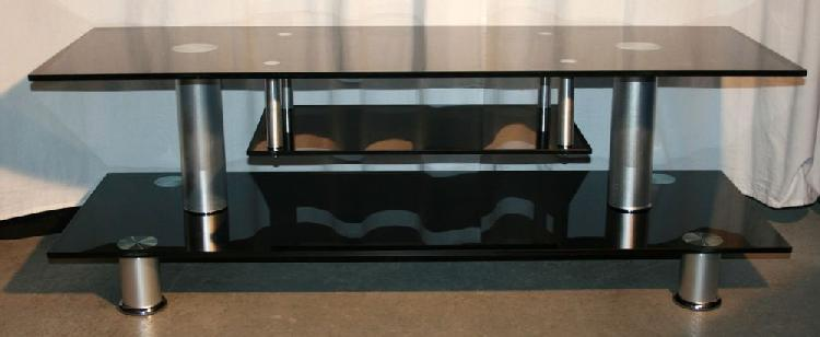 Table basse en verre fumé noir
