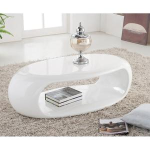 Table basse ovale blanche pas cher