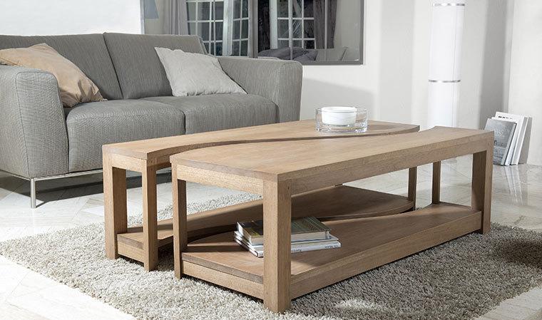 Table basse bois clair originale