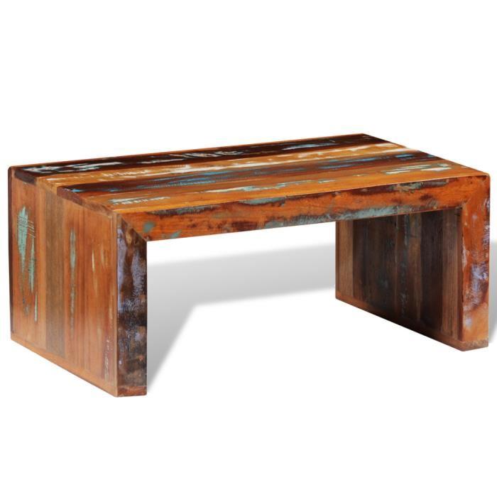 Table basse bois récupération