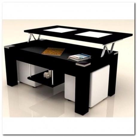 Table basse relevable pouf