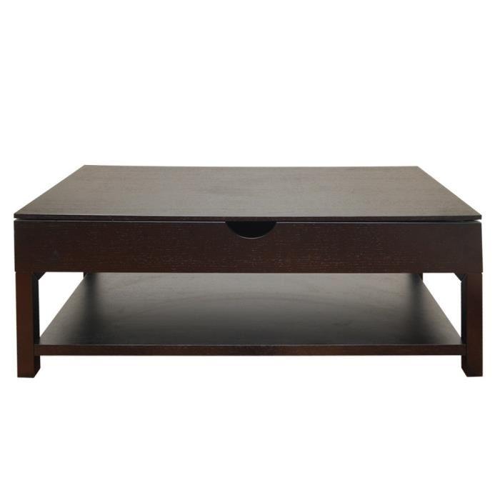 Table basse wengé bois massif