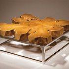 Table basse originale en bois