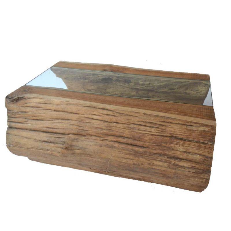 Table basse tronc de bois