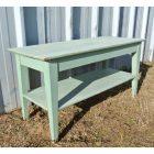 Table basse bois vert