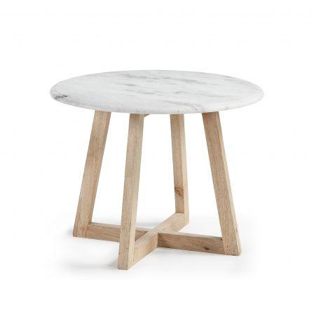 Table basse marbre scandinave