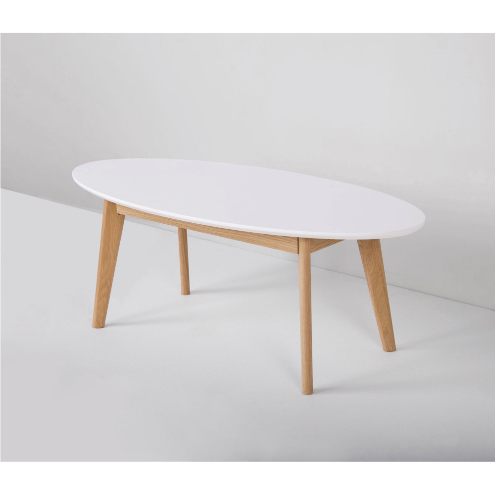 Table basse scandinave laque blanc