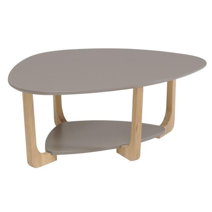 Table basse ovale bois vintage