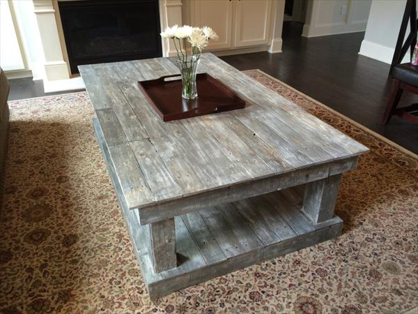Table basse palette ronde