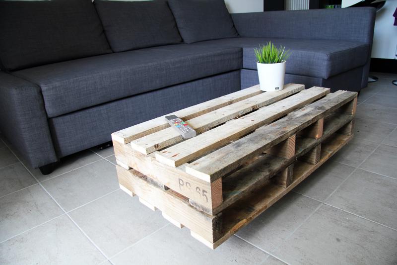 Table basse avec palettes bois