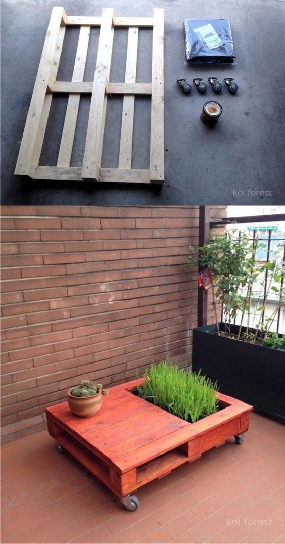 Table basse jardin palette tuto