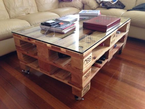 Palette europe table basse