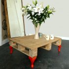 Tuto table basse palette pied epingle