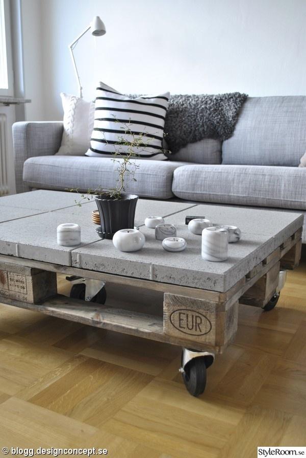 Modèle de table basse en palette