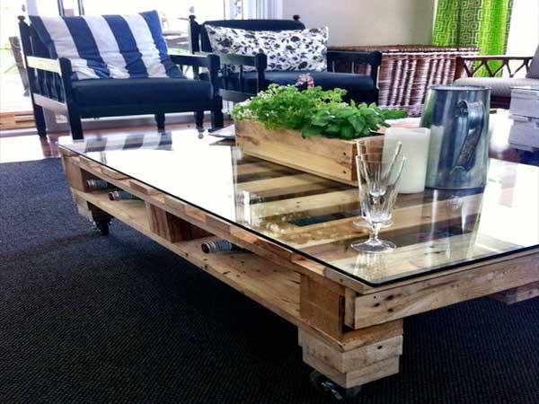 Table basse exterieur palette