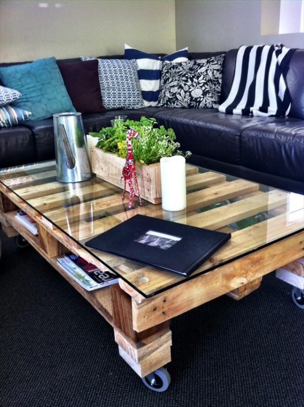 Table basse palette traitement