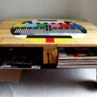 Roulette pour table basse en palette