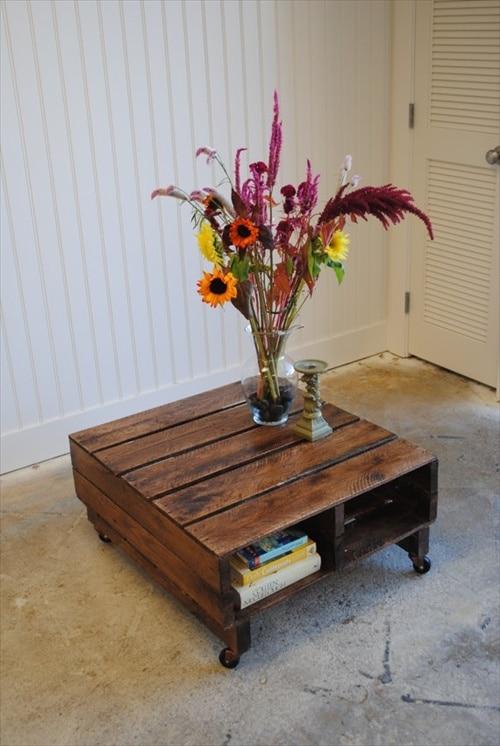 Petite table basse palette