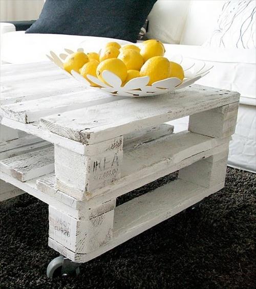 Table basse en palette de chantier