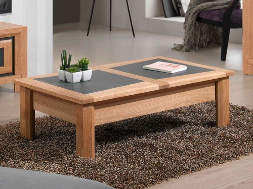 Table basse salon en bois massif
