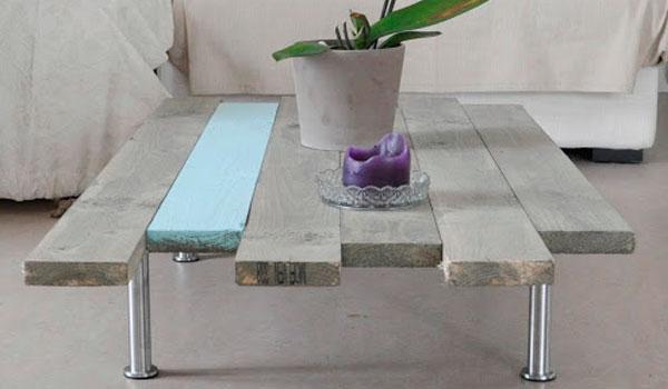 Construction table basse en palette
