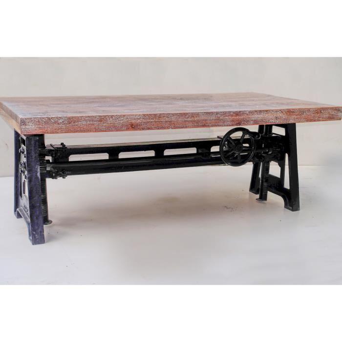 Pied pour table basse relevable