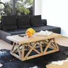 Table basse bois design fait maison