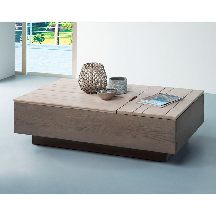 Table basse 2 plateau relevable