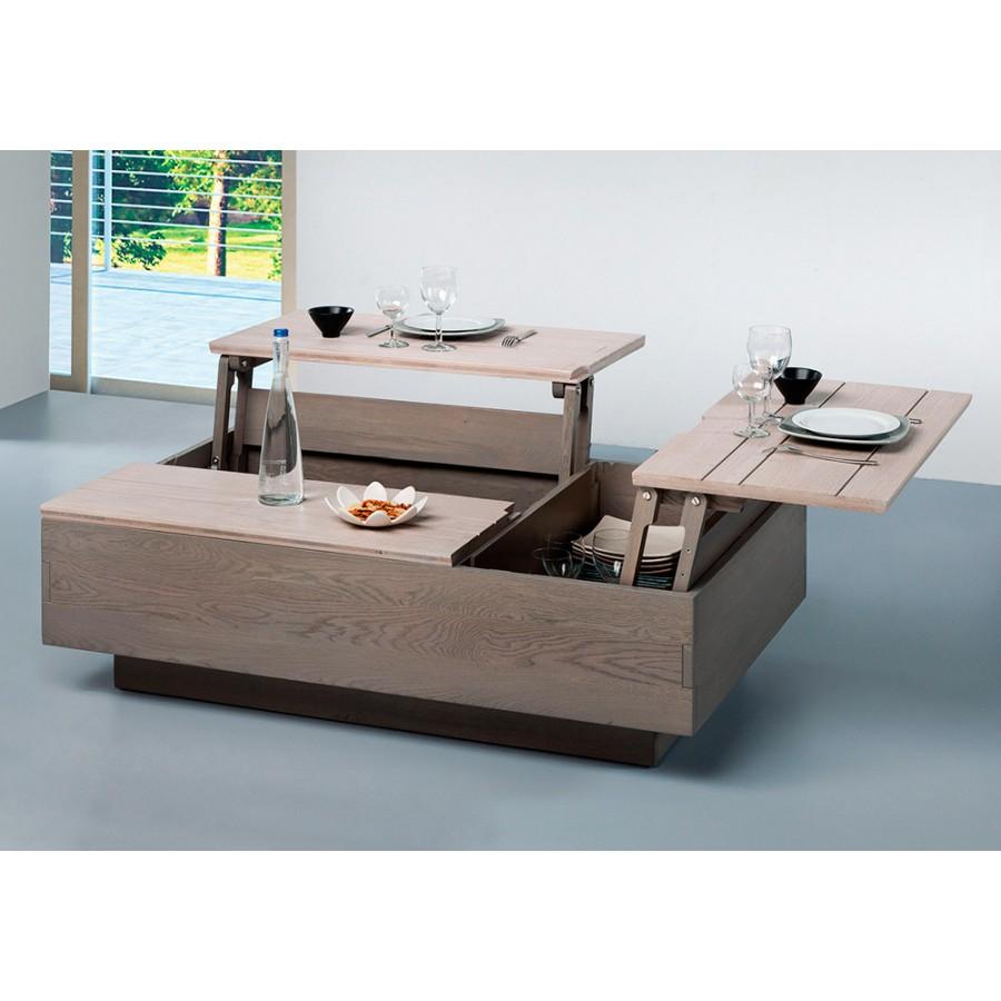 Table basse dinette relevable