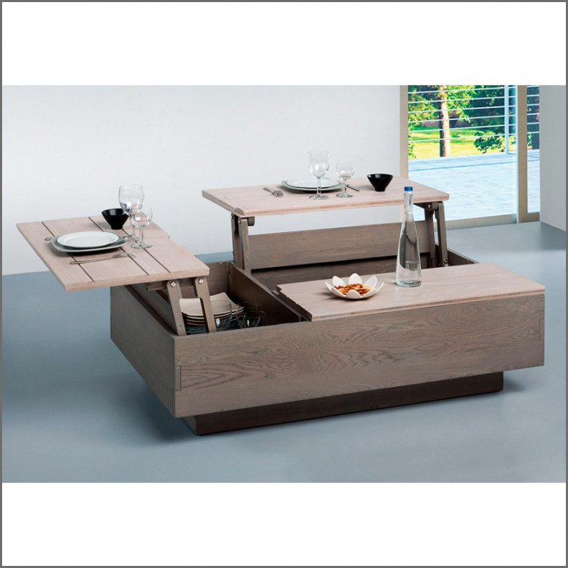 Petite table basse scandinave double plateau