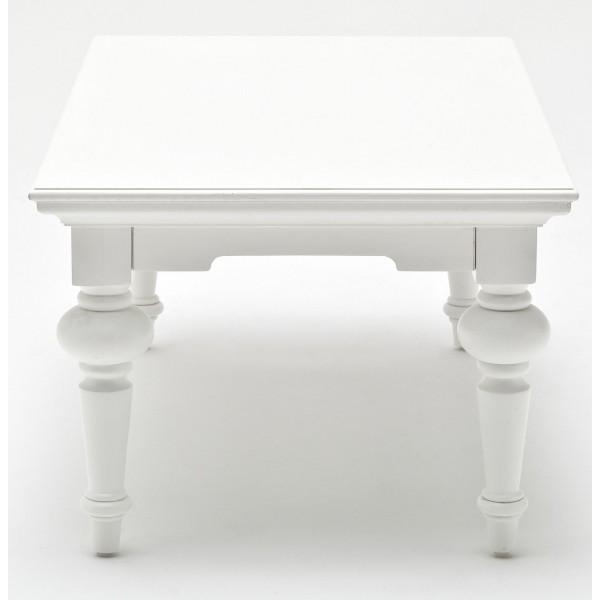 Table basse en bois massif blanc