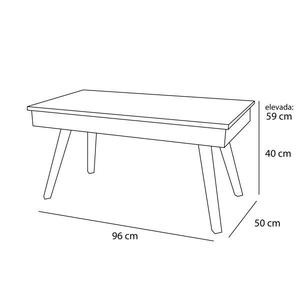 Table basse massif relevable