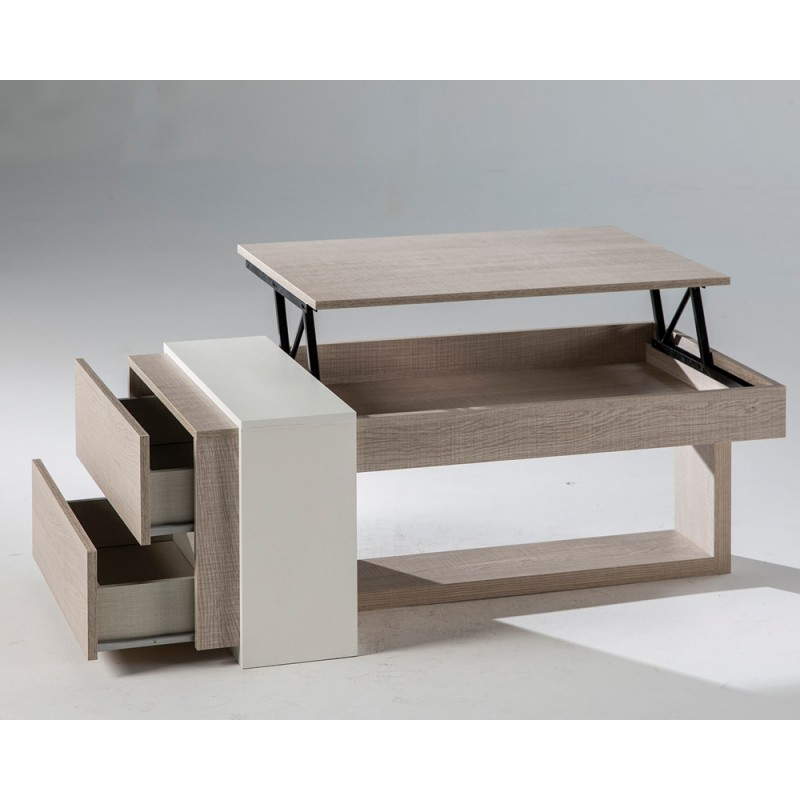 Table basse relevable repas