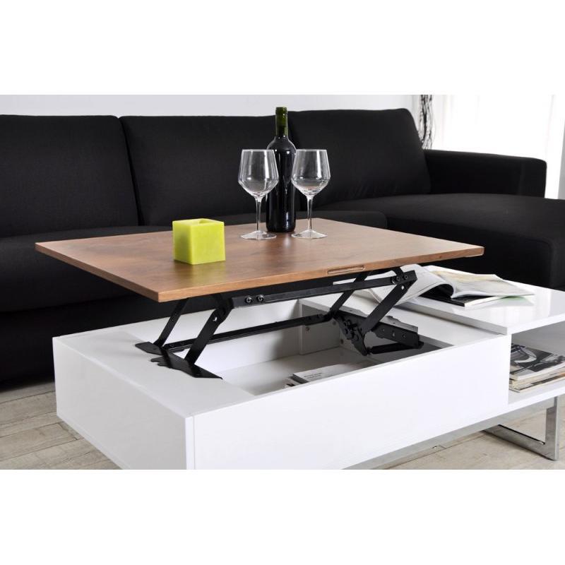 Palette table basse relevable