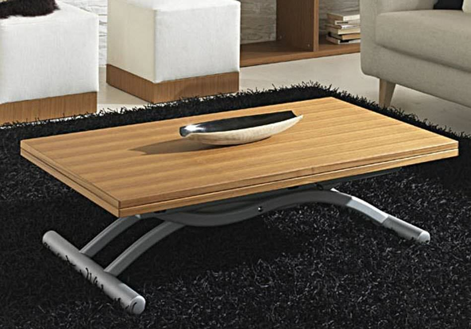 Table basse relevable en bois massif